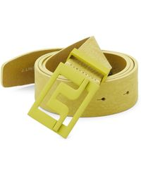 J.Lindeberg - Slater Brushed Leather Belt - Lyst