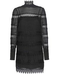 FRAME Nora Lace Shift Dress - Black