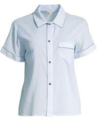 Morgan Lane Tami Short-sleeve Pajama Top - Blue