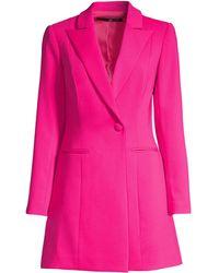 Jay Godfrey Ace Mini Tuxedo Dress - Pink