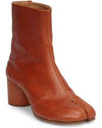 Maison Margiela - Tabby Mid-heel Leather Boots - Lyst