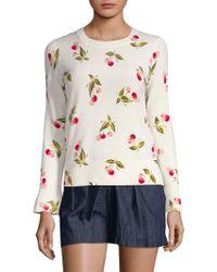 Joie - Varden Sweet Cherry Print Cashmere Sweater - Lyst