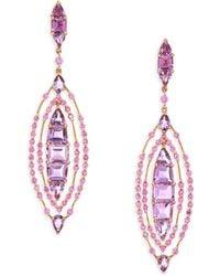 Etho Maria - Pink Sapphire & Amethyst Drop Earrings - Lyst