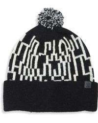 Bickley + Mitchell - Lambswool Blend Knit Pom Beanie - Lyst