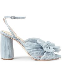 Loeffler Randall Camellia Knotted Sandals - Blue