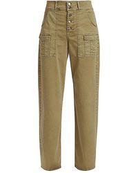 FRAME Safari Wide-leg Pants - Multicolor
