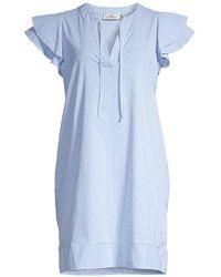 Vineyard Vines Harbor Flutter Tunic Dress - Blue