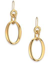 Ippolita - Glamazon 18k Yellow Gold Oval Link Drop Earrings - Lyst