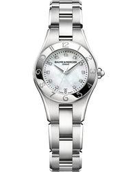 Baume & Mercier - Linea 10011 Interchangeable Stainless Steel Bracelet Watch - Lyst