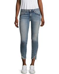 AMO - Twist Side Pipe Skinny Jeans - Lyst
