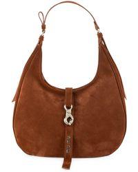 Miu Miu Medium Leather Hobo Bag - Brown