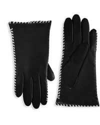 Saks Fifth Avenue Whipstitch Cashmere-lined Leather Gloves - Black