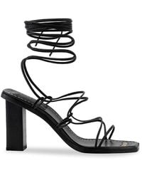 FRAME Le Doheny Ankle-wrap Leather Sandals - Black
