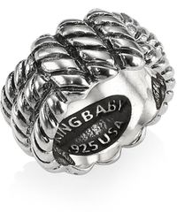 King Baby Studio Sterling Silver Monkey Knot Band Ring - Metallic