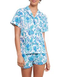 Roberta Roller Rabbit Amanda Lulu 2-piece Pajama Set - Blue