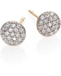 Phillips House Affair Diamond & 14k Yellow Gold Infinity Stud Earrings - Metallic