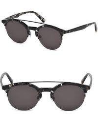 Web - Lens 49mm Round Pilot Sunglasses - Lyst