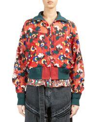 Sacai - Sheer Floral Bomber Jacket - Lyst