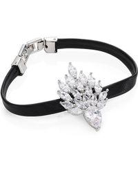 Fallon Monarch Leather Snap Bracelet v0pqMxC