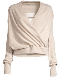 Brochu Walker Camisole Layered Faux-wrap Sweater - White