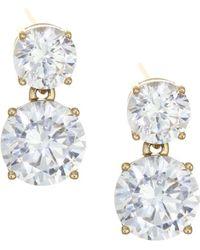Adriana Orsini 18k Goldplated Sterling Silver Double Round Stud Earrings - Metallic