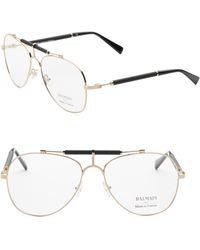 Balmain - 59mm Aviator Optical Sunglasses - Lyst