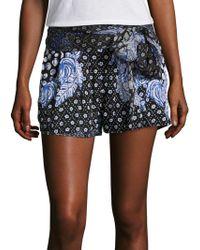 Poupette - Coco Printed Shorts - Lyst