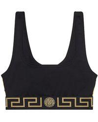 Versace Greca Sports Bra - Black