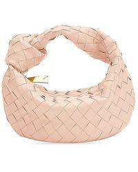 Bottega Veneta Mini Jodie Leather Hobo Bag - Pink