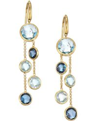Marco Bicego - Jaipur 18k Yellow Gold & Topaz Drop Earrings - Lyst