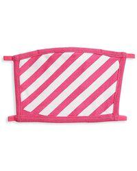 Off-White c/o Virgil Abloh Diagonal Stripe Cotton Face Mask - Pink