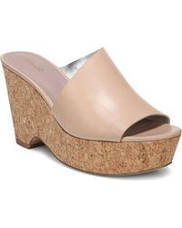 03ce9e93df1 Diane von Furstenberg - Bonnie Tan Platform Wedge Sandals - Lyst