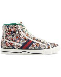 Gucci Gucci Men's Tennis 1977 Liberty London High-top Sneakers - Multicolor