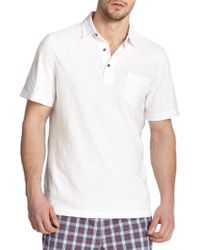 Saks Fifth Avenue - Slub Polo - Lyst