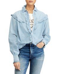 Polo Ralph Lauren - Ruffle Button-front Shirt - Lyst