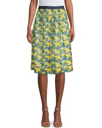 Draper James - Embroidered Floral Skirt - Lyst