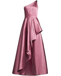 Jay Godfrey Margaret Taffeta Ruffle Gown - Pink