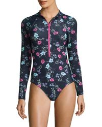 Shoshanna - One-piece Floral Swimsuit - Lyst