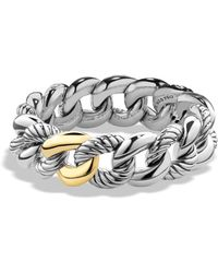 David Yurman - Belmont Curb Link Bracelet With Gold - Lyst