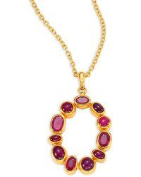 Gurhan Amulet Hue Ruby & 24k Yellow Gold Pendant Necklace - Metallic