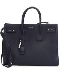 Saint Laurent - Medium Leather Carryall Briefcase - Lyst