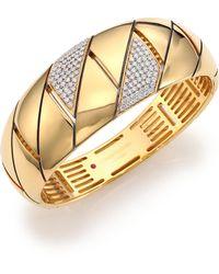 Roberto Coin - Appassionata Diamond & 18k Yellow Gold Bangle Bracelet - Lyst
