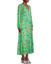 Banjanan - Laura Long Sleeve Blouse Maxi Dress - Lyst