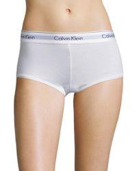 CALVIN KLEIN 205W39NYC - Modern Cotton Logo Boyshort - Lyst