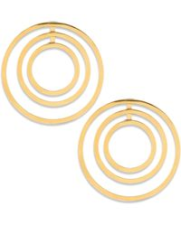 "Lele Sadoughi - Concrete Jungle Roundabout Hoop Earrings/1.75"" - Lyst"