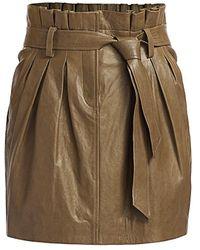 FRAME Paperbag Leather Skirt - Multicolor