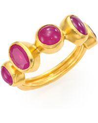 Gurhan - Amulet Hue Ruby & 24k Yellow Gold Ring - Lyst