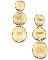 Marco Bicego - Lunaria 18k Yellow Gold Triple-drop Earrings - Lyst