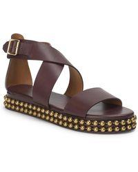 Chloé - Sawyer Studded Leather Wrap Gladiator Sandals - Lyst