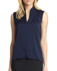 ba63833f9d5dc Elie Tahari Judith Long-sleeve Silk Blouse W  Tiered Cuffs in Pink ...